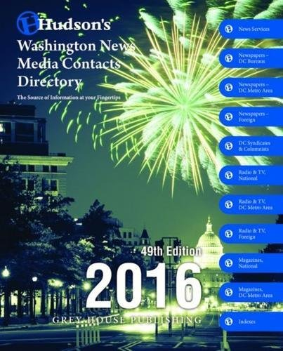 Hudson s Washington News Media Contacts Directory 2016 (Paperback)