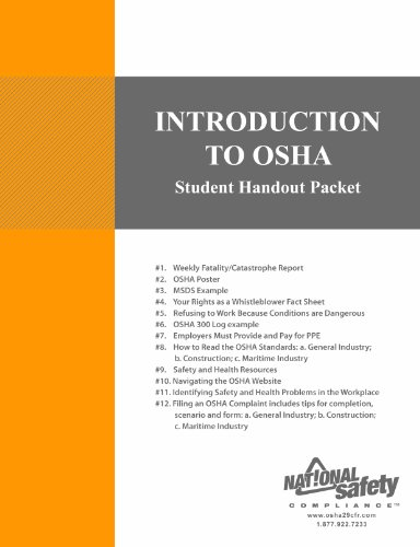 9781619460621: Introduction to OSHA Student Handout Packet