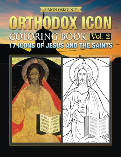 9781619495395: Orthodox Icon Coloring Book Vol.2: 17 Icons of Jesus and The Saints