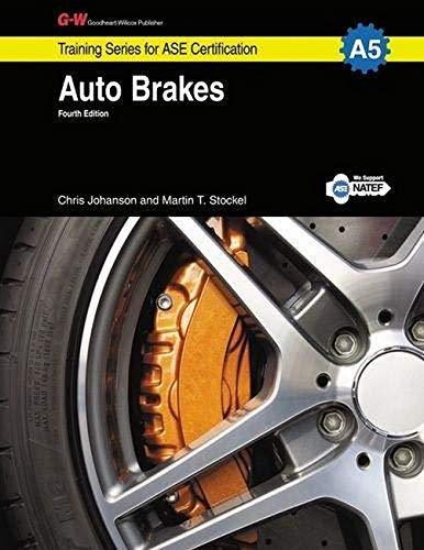 9781619607316: Auto Brakes, A5 (G-W Training Series for ASE Certification)