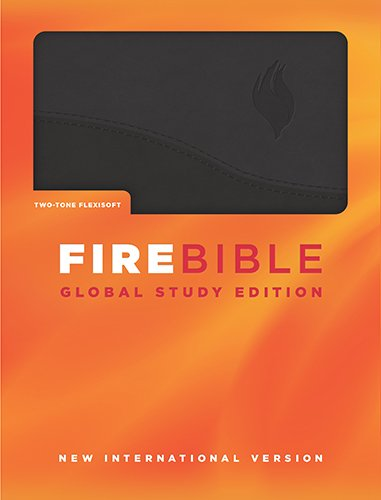 9781619701281: Fire Bible: New International Version, Black on Black Flexisoft, Global Study Edition
