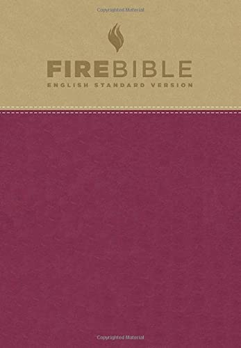 9781619701496: Holy Bible: Fire Bible, English Standard Version, Flexisoft Leather, Tan/Berry