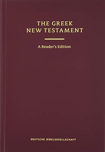 9781619706187: Greek New Testament: The Text of UBS 5, Reader's Edition (English and Greek Edition)