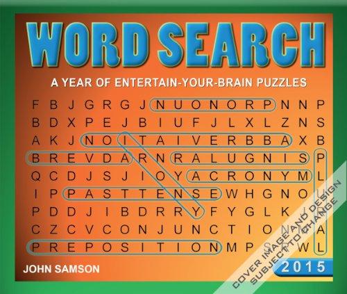 Word Search 2015 Desk Calendar
