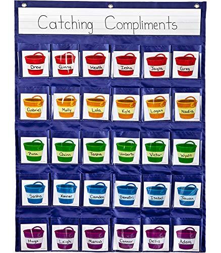 9781620572597: Carson Dellosa Positive Reinforcement Pocket Chart (158161)
