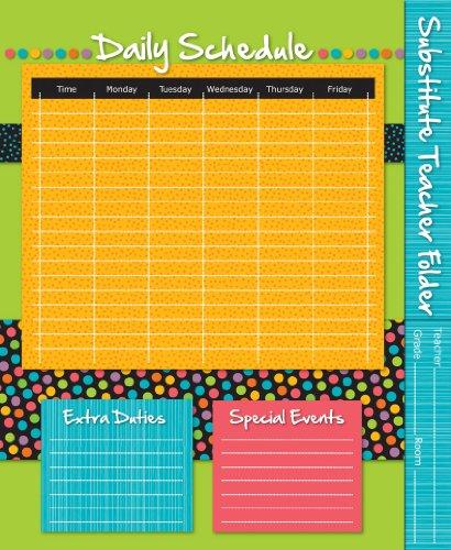 9781620572689: Substitute Teacher Folder: Stylin' Stripes