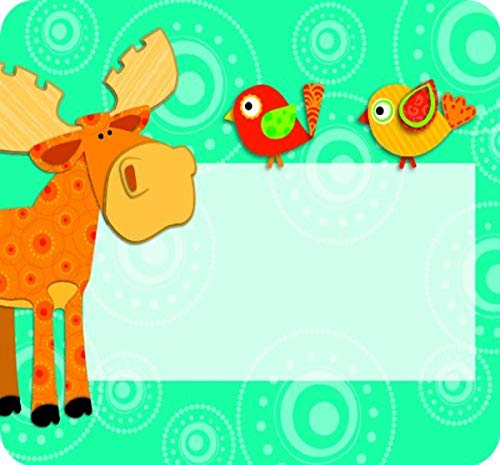 Moose & Friends Name Tags 9781620574355 Coordinate your classroom with Moose & Friends charming name tags. Stay organized and get creative using these ready-to-use name tags fo
