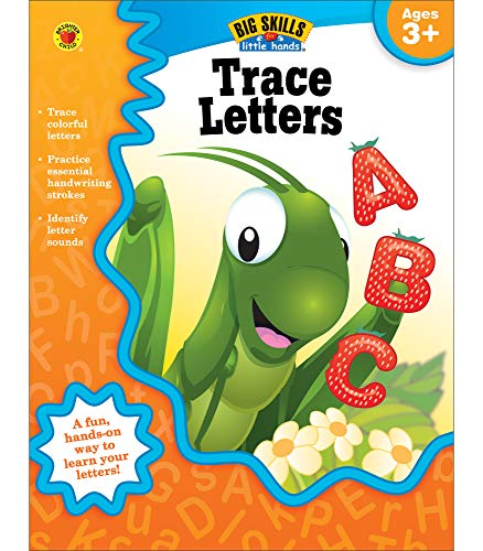 Trace Letters Workbook, Grades Preschool - K (Big Skills for Little Hands): Brighter Child