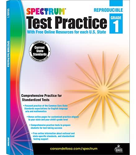 9781620575932: Spectrum Test Practice Workbook, Grade 1