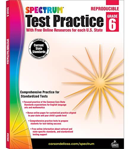 9781620575987: Spectrum Test Practice, Grade 6