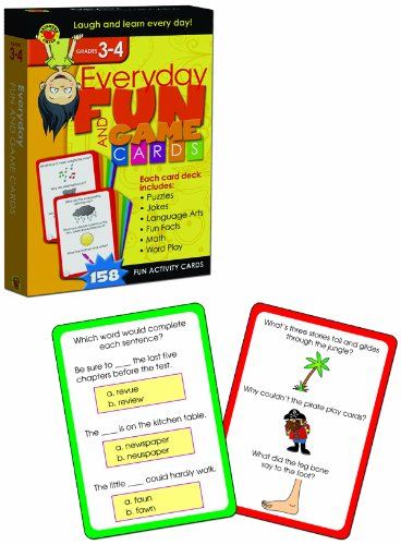 9781620576199: Everyday Fun and Game Cards, Grades 3-4