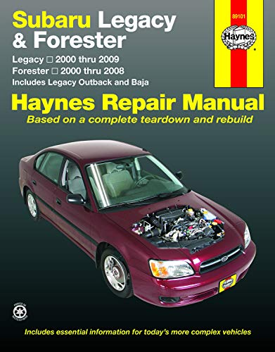 9781620920046: Subaru Legacy 2000-2009 & Forester 2000-2008 Repair Manual (Haynes Repair Manual)