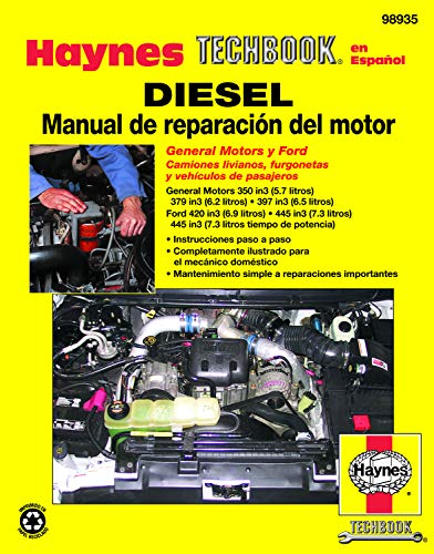 9781620920213: Diesel Manual de Reparaci=n del Motor (Haynes Techbook en Espanol) (Spanish Edition)