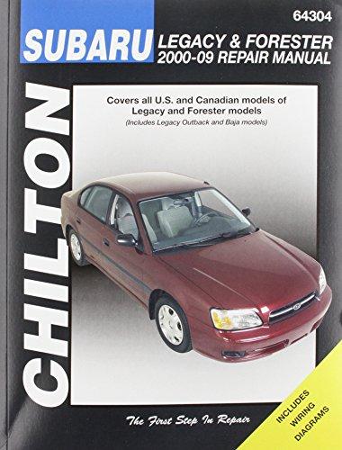9781620920220: Chilton Total Car Care Subaru Legacy 2000-2009 & Forester 2000-2008 Repair Manual