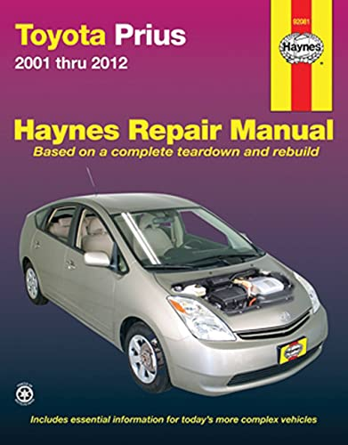 9781620920664: Toyota Prius 2001-2012 Repair Manual (Haynes Repair Manual)