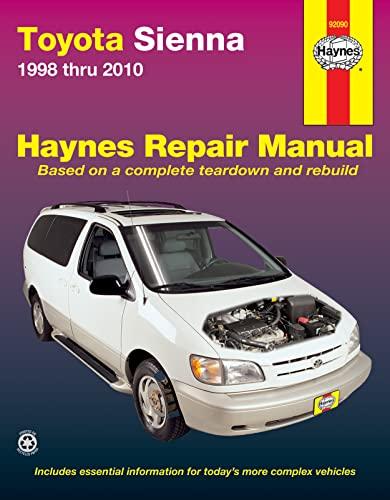9781620920824: Toyota Sienna 1998 thru 2010: All Models (Haynes Automotive Repair Manuals)