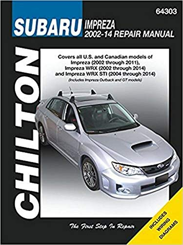 9781620921302: Subaru Impreza & Wrx Automotive Repair Manual: 2002 to 14