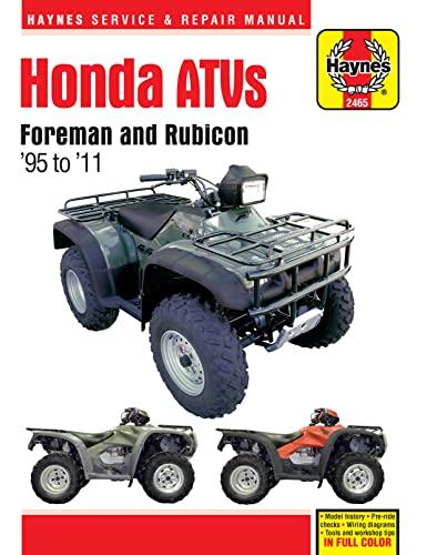 Honda ATVs Foreman and Rubicon '95 to '11 (Haynes Service & Repair Manual): Haynes ...