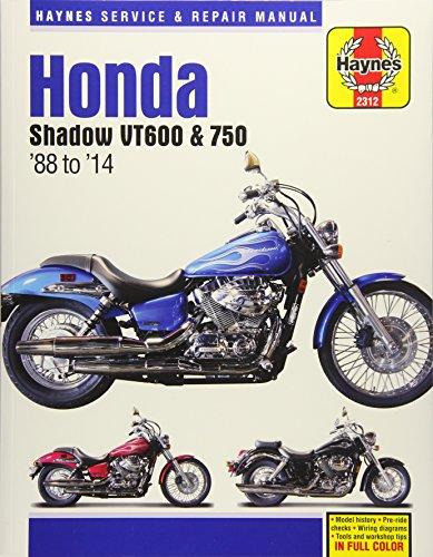 Honda Shadow VT600 750 Motorcycle Repair Manual: 1988-14 (Paperback)