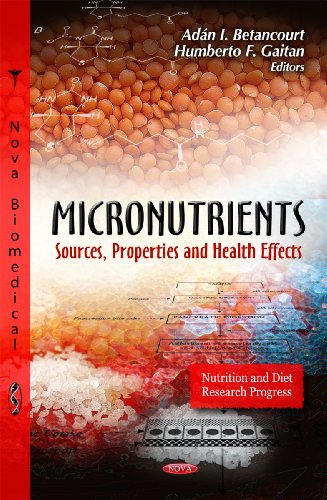 9781621008347: Micronutrients: Sources, Properties and Health Effects (Nutrition and Diet Research Progress)