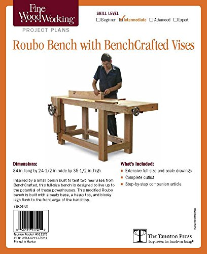 9781621137924: Fine Woodworking's Roubo Bench with Bench Crafted Vises Plan (Fine Woodworking Project Plans)