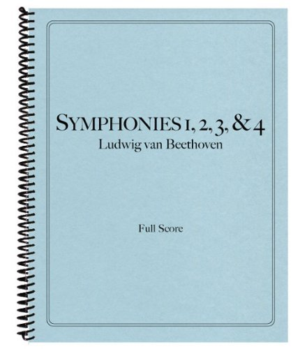 9781621180654: Symphonies Nos. 1, 2, 3, and 4 in Full Score