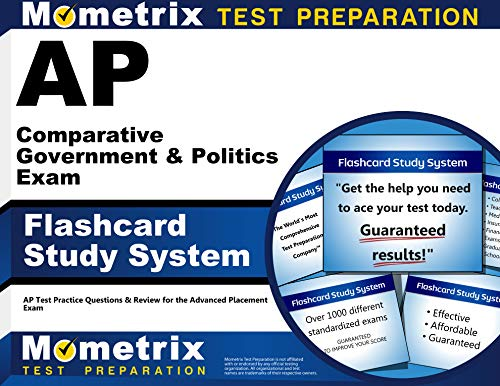 9781621200383: AP Comparative Government & Politics Exam Flashcard Study System: AP Test Practice Questions & Review for the Advanced Placement Exam (Cards)
