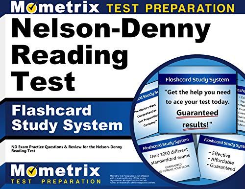 Nelson-Denny Reading Test Flashcard Study System: ND Exam Practice Questions & Review for the ...