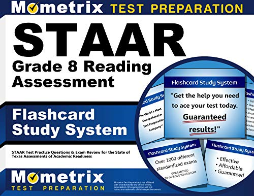 9781621201397: STAAR Grade 8 Reading Assessment Flashcard Study System: STAAR Test Practice Questions & Exam Review for the State of Texas Assessments of Academic Readiness (Cards)
