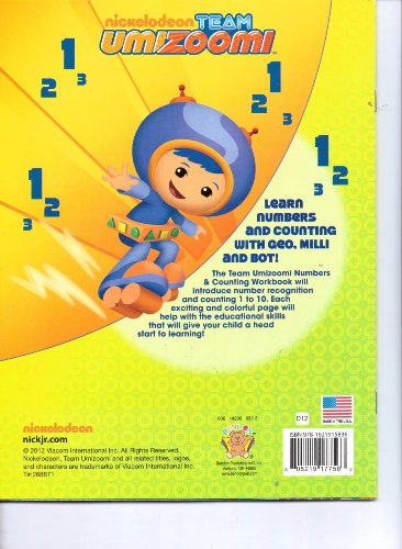 9781621915836: Team Umizoomi Numbers + Counting Workbook