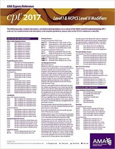 9781622024346: CPT 2017 Express Reference Coding Card: CPT & HCPCS Modifiers (CPT 2017 Express Reference Coding Cards)