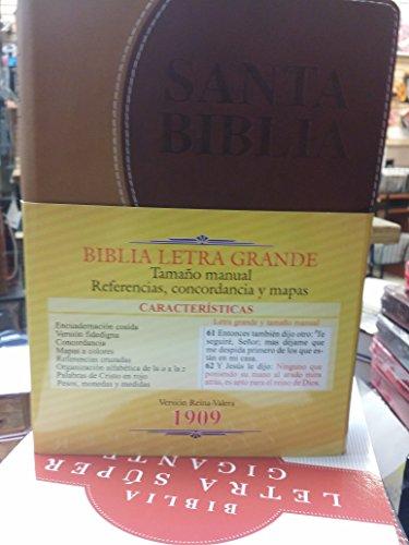 9781622151509: BIBLIA ANTIGUA VERSION REINA VALERA 1909 LETRA GRANDE TAMANO MANUAL