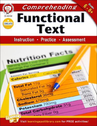 Comprehending Functional Text, Grades 6-8: Instruction, Practice, Assessment: Cameron, Schyrlet; ...