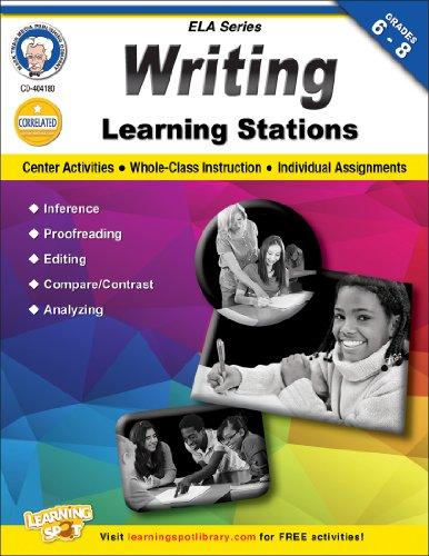 9781622230051: Writing Learning Stations, Grades 6 - 8 (English Language Arts)