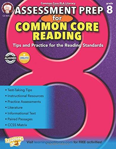 9781622235216: Mark Twain - Assessment Prep for Common Core Reading, Grade 8