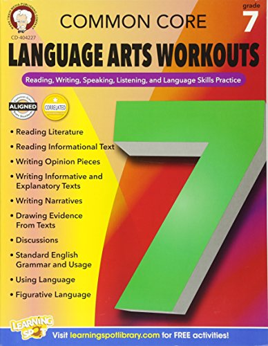 9781622235247: Common Core Language Arts Workouts, Grade 7: Reading, Writing, Speaking, Listening, and Language Skills Practice