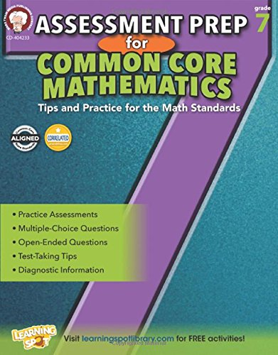 9781622235308: Assessment Prep for Common Core Mathematics, Grade 7 (Common Core Math Literacy)