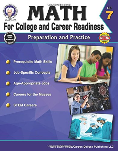 9781622235841: Math for College and Career Readiness, Grade 7: Preparation and Practice