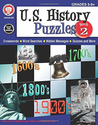 U.s. History Puzzles, Grades 5-8: Mark Twain Media