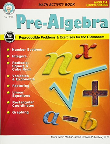 9781622237029: Pre-Algebra, Grades 5-12 (Middle/Upper Grades Math Series)