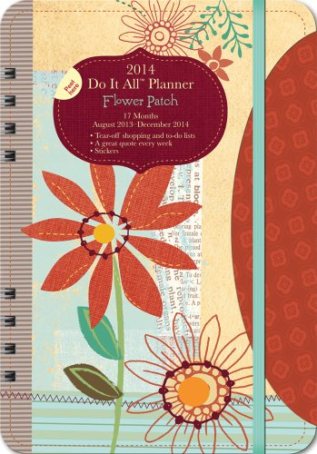 9781622260966: Flower Patch 17 Months 2014 Do It All Planner: August 2013 - December 2014
