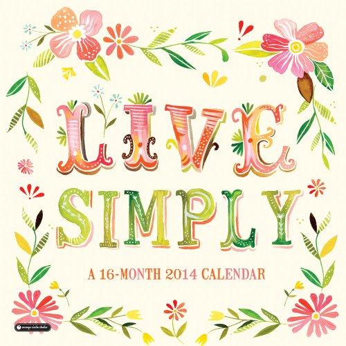 9781622261352: Live Simply 2014 Calendar