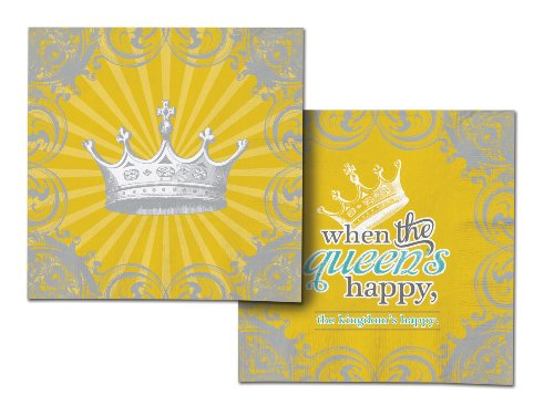 Paper Napkins Happy Queen