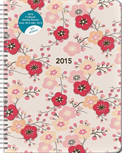 9781622264827: Cherry Blossoms 17-Month 2015 Calendar: Aug. 2014 - Dec. 2015: Large Flexi Planner