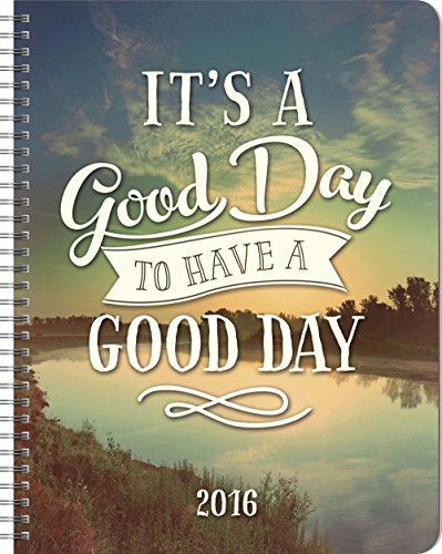 9781622267934: Orange Circle Studio 17-Month 2016 Large Flexi Planner, It's a Good Day to Have a Good Day