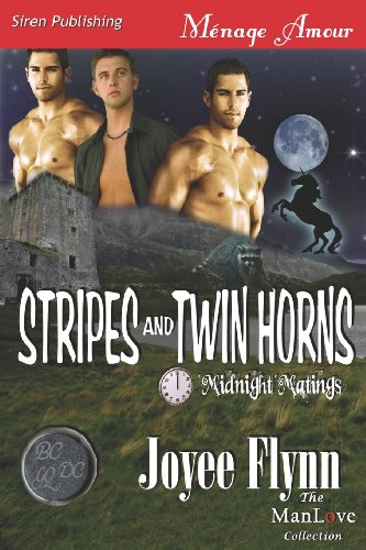 Stripes and Twin Horns Midnight Matings (Siren Publishing Menage Amour Manlove): Joyee Flynn