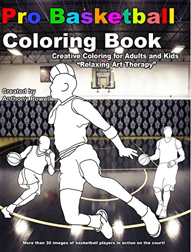 9781622493319: Pro Basketball Adult Coloring Book