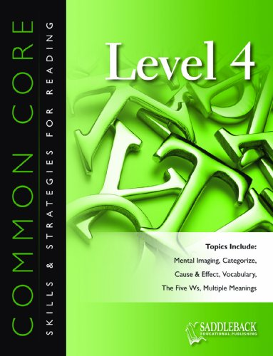 9781622500550: Common Core Skills & Strategies for Reading, Level 4