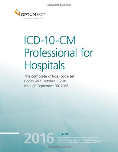 9781622540372: ICD-10-CM Professional for Hospitals 2016