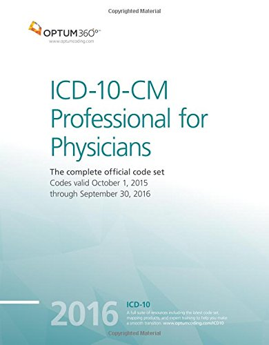 9781622540464: ICD-10-CM Professional for Physicians 2016